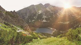 Tatry mountains in Poland. Summer nature landscape stock video