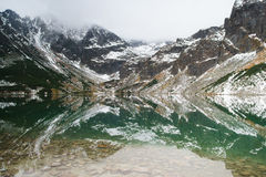 Tatry mountains a remarkable reflection in water Royalty Free Stock Photography