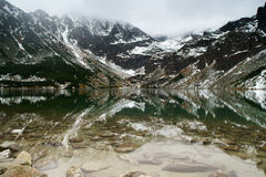 Tatry mountains a remarkable reflection in water Stock Image