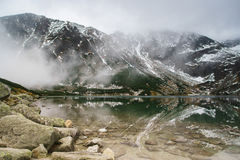 Tatry mountains a remarkable reflection in water Royalty Free Stock Photos