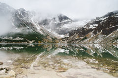 Tatry mountains a remarkable reflection in water Stock Photos