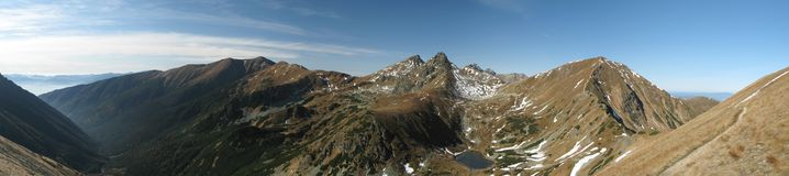 Tatry - panorama of Rohace Stock Image