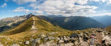 Tatry Polska i Sistani granica, jesieni landskapes Fotografia Royalty Free