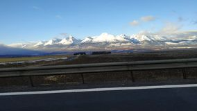 Tatry. Snow Tatry from highway stock photo