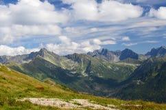 Tatrzańskie góry na Sierpień 2014 Zdjęcia Stock
