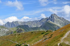 Tatrzańskie góry na Sierpień 2014 Zdjęcia Royalty Free