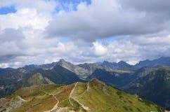 Tatrzańskie góry na Sierpień 2014 Fotografia Royalty Free