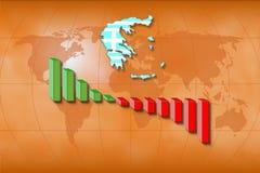Tatsächliche griechische Wirtschaftlichkeit Stockfotos