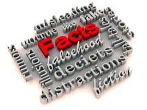 Tatsachen über irreführenden Illusionen lizenzfreie abbildung