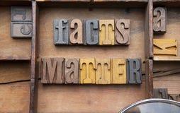 Tatsachen-Angelegenheit stockfotografie