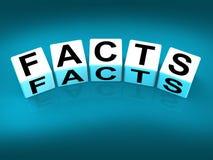 Tatsachen-Blöcke beziehen sich auf Informationen der Wirklichkeit und Stockbild