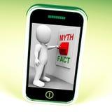 Tatsachen-Mythos-Schalter zeigt Tatsachen oder Mythologie Lizenzfreie Stockbilder