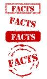Tatsachen-Stempel-Set Stockbild