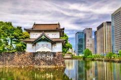 Tatsumi Yagura,在故宫的防御塔 免版税库存图片