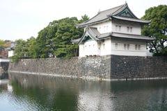 Tatsumi-yagura en el palacio imperial de Tokio Imagen de archivo libre de regalías