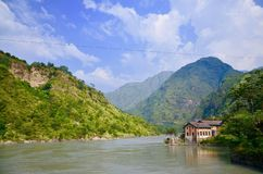 Tattapani river cross the mountain!!. Shimla in himachal paradesh Stock Photography