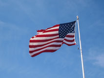 Tattered American Flag Royalty Free Stock Image