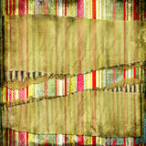 Tattered background. Striped vintage background with torn paperboard Stock Images