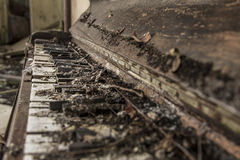 Tattered old abandoned piano 2 Royalty Free Stock Image