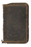 Tattered, Old Rough Leather Book Cover. Deeply textured and very worn old black leather book cover Royalty Free Stock Images