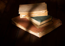 Tattered read out books Stock Images