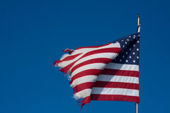 Tattered USA Flag Royalty Free Stock Photo