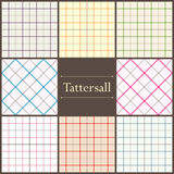 Tattersall plaid pattern Royalty Free Stock Photos
