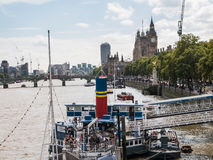 Tattershall Castle boat on Thames with Big Ben in background Stock Photo