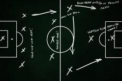 Tattiche e schema di calcio o della partita di football americano Fotografia Stock