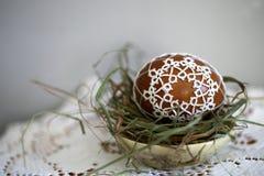 Tatting Easter eggs stock images
