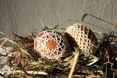 Tatting Easter eggs royalty free stock photos