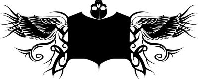Tatto Banner. This is a abstract tattoo banner with big free space for your business.If you want don't use the skull,simply clear it royalty free illustration