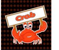 Tatto van het krabbenbeeldverhaal Royalty-vrije Stock Foto's