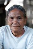 Tattoed kvinna för haka stam, Myanmar Fotografering för Bildbyråer