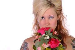 Tattoed woman 3 Stock Photo