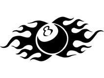 tattoo биллиарда шарика Стоковая Фотография RF
