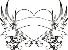 tattoo влюбленности сердца Стоковые Фото