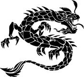 tattoo дракона соплеменный Стоковое Изображение