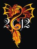 tattoo иллюстрации дракона Стоковые Изображения RF