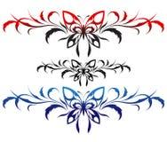 tattoo картины цветка бабочек Стоковые Фотографии RF