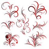 tattoo картины цветка установленный Стоковая Фотография RF