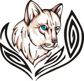 Tattoo кота Стоковое Изображение RF