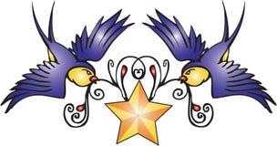 tattoo ласточек Стоковая Фотография