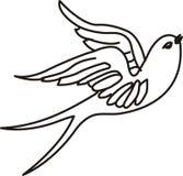 tattoo птицы Стоковое Изображение RF