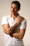tattoo человека Стоковая Фотография