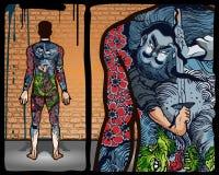 tattoo японца конструкции Стоковое Изображение