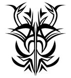 Tattoo. Hand drawn, artistic tattoo pattern against white background Royalty Free Stock Image