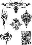 Tattoo. Vector tattoo design black on white Stock Image