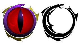 tattoo змейки глаза Стоковые Изображения