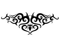 Tattoo 2. Illustration of tribal tattoo pattern Royalty Free Stock Photography